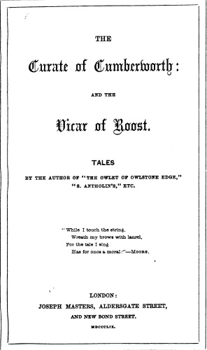 The Vicar of Roost (1859)